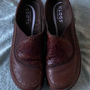 Klogs Footwear mules like new condition brown